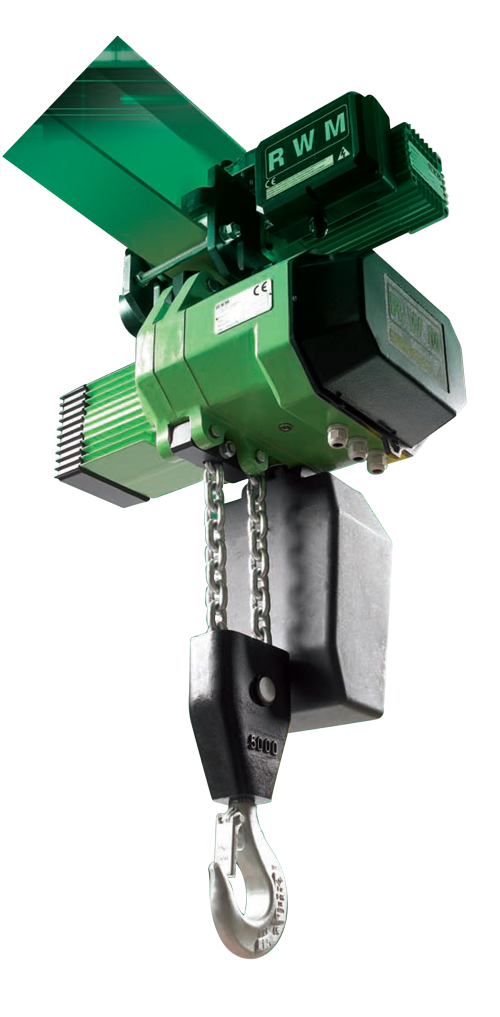 5 TON SINGLE SPEED CHAIN HOIST WITH MOTORIZED TROLLEY 5000WR4CE