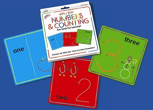 Wikki Stix Numbers and Counting Card Set