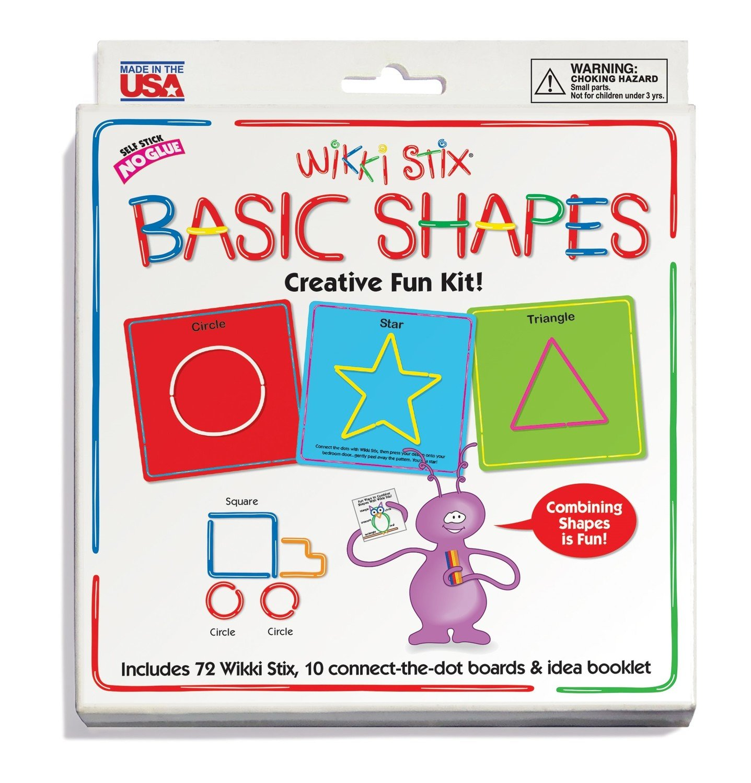 Wikki Stix Basic Shapes Card Set