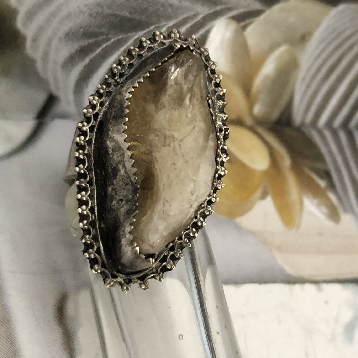 Cirtrine And Sterling Ring