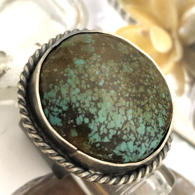 Chinese Turquoise Silver Ring