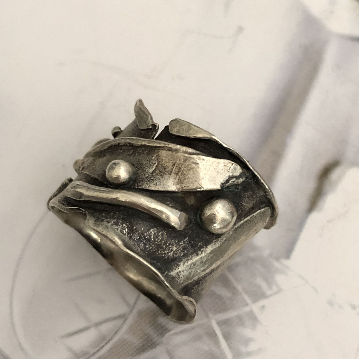 Free Form Rustic Sterling Ring