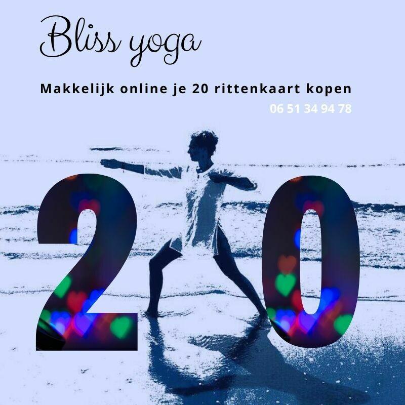 Bliss Yoga 20 rittenkaart
