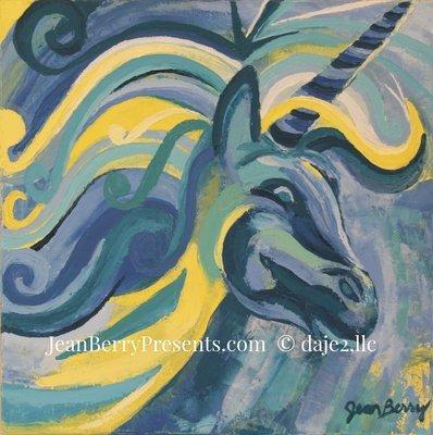 Mystical Unicorn Original Oil Painting on Canvas