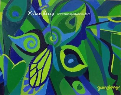 Angels Peacocks & Butterflies Original Oil Painting