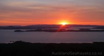 Sunset Kayak to Rangitoto - Jan 11th 2020