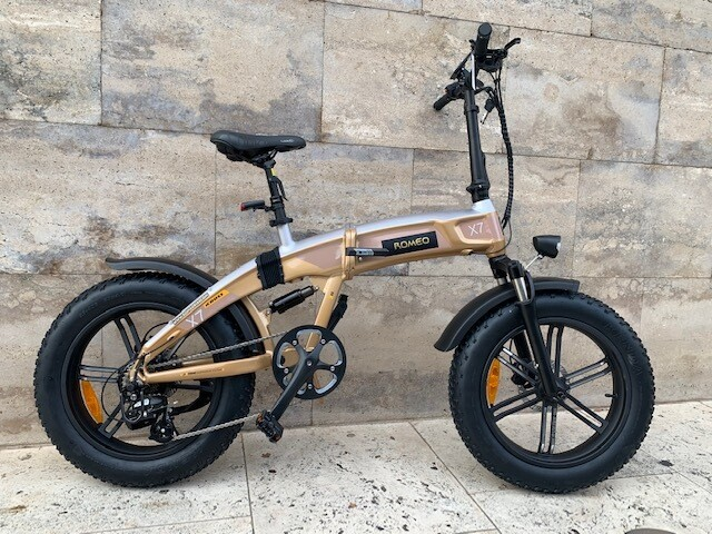 E-bike folding-Fat Romeo Gold