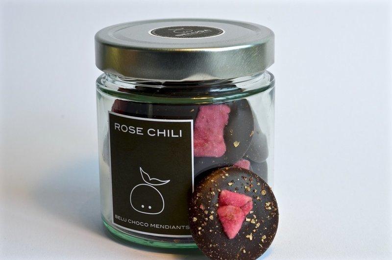 Glass Mendiants Rose Chili
