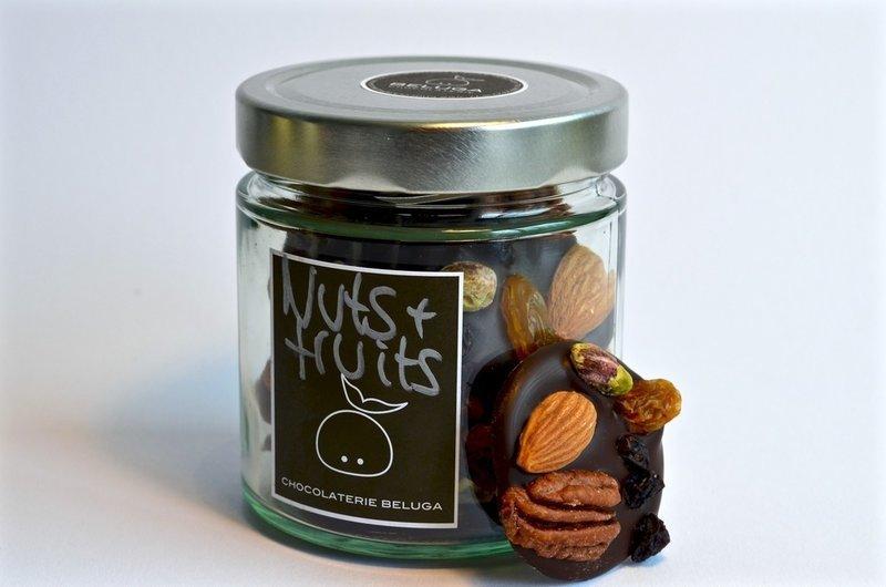 Glass Mendiants Nuts & Fruits Dark
