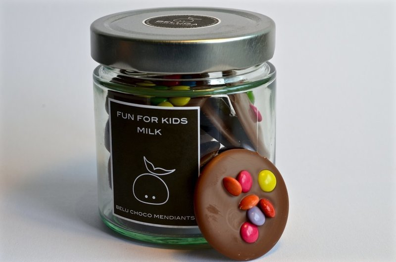 Glass Mendiants Fun for Kids Milk