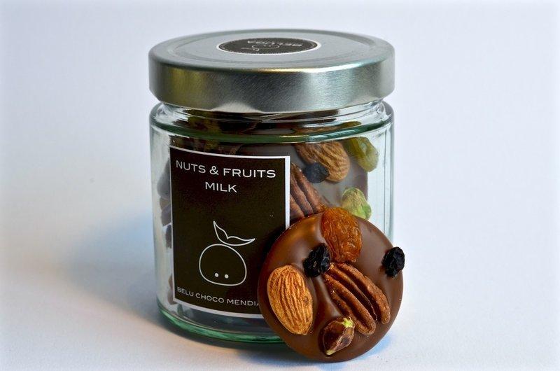 Glass Mendiants Nuts & Fruits Milk