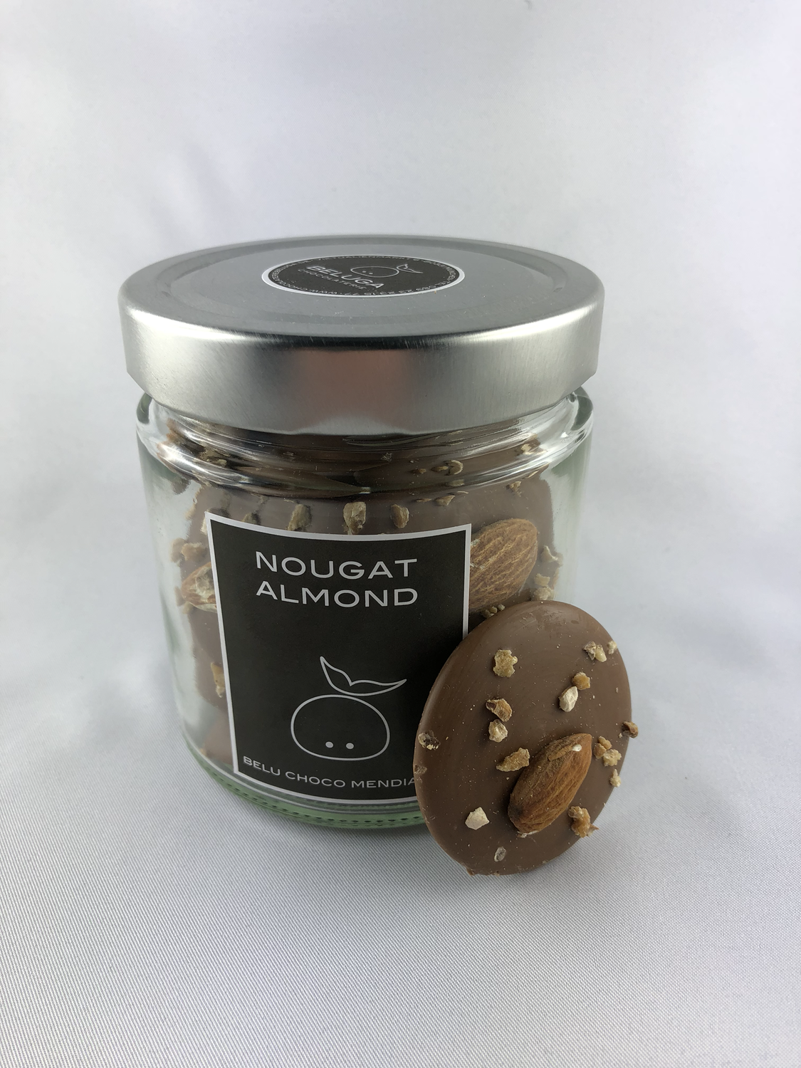 Glass Mendiants Nougat Almond