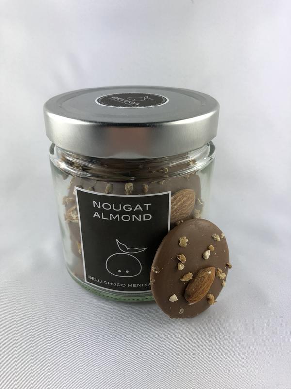 Glass Mendiants Nougat Almond