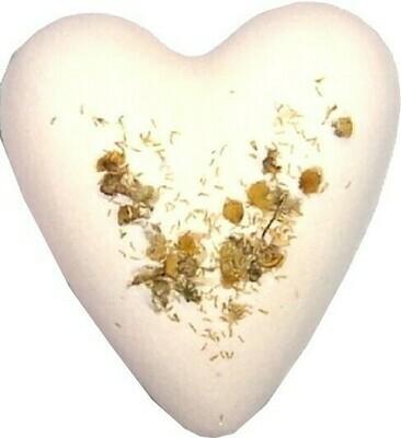 Megafizz Bath Heart - Chamomile & Honey