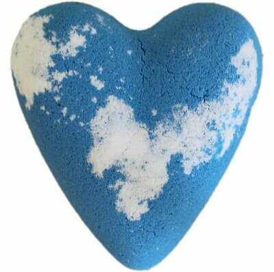 Megafizz Bath Heart - Adam  - Blue