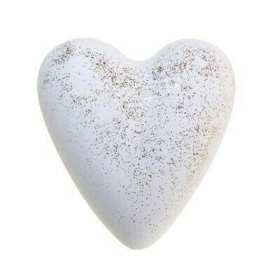 Xmas Star Bath Heart - White