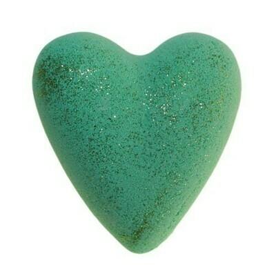Xmas Tree Bath Heart - Green