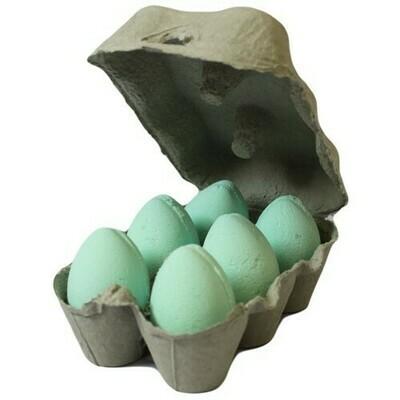 Box of 6 Bath Eggs - Mango- Green (6x 50gm)