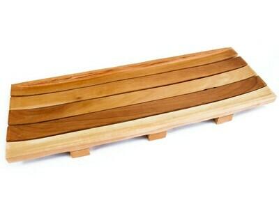 Long Mahogany Soap Tray