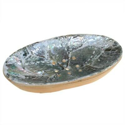 ahogany & White Silver Soap Dish - Oval
