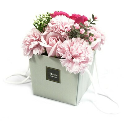 1x Soap Flower Bouqet - Pink Rose & Carnation