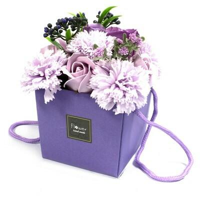1x Soap Flower Bouqet - Lavender Rose & Carnation