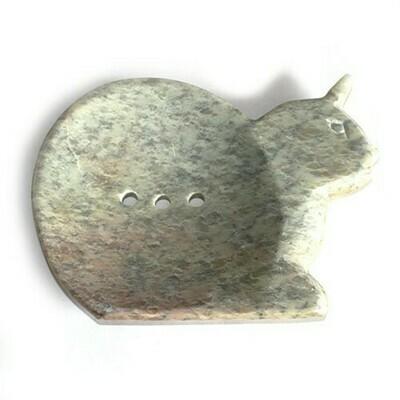 Large Soapstone Dish - Cat