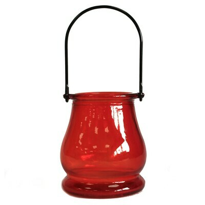 Recycled Candle Lantern - Ruby