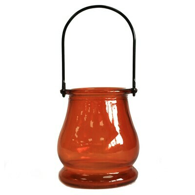 Recycled Candle Lantern - Amber