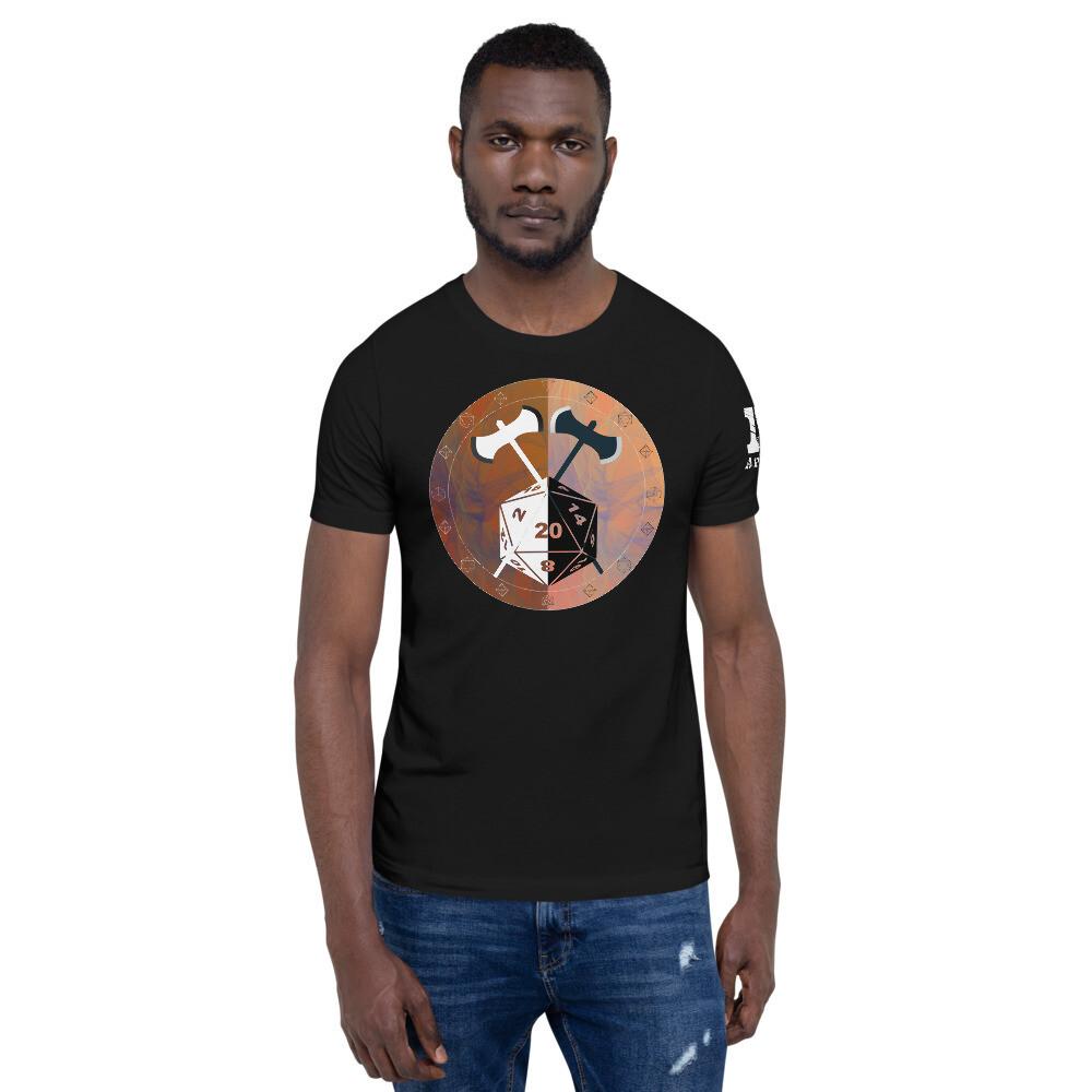Barbarian Shield Color Short-Sleeve Unisex T-Shirt