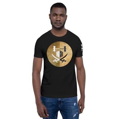 Fighter Shield Color Short-Sleeve Unisex T-Shirt