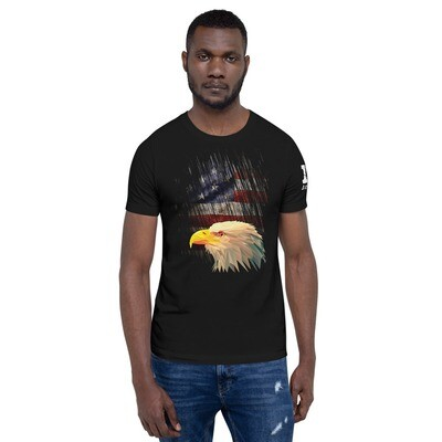 Eagle & Tattered Flag  Color Short-Sleeve Unisex T-Shirt