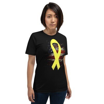 Yellow Ribbon Military Support Color Short-Sleeve Unisex T-Shirt