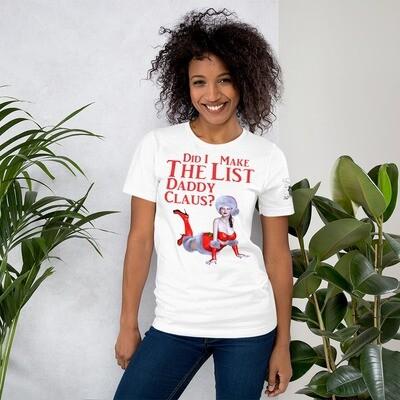 Daddy Claus List Short-Sleeve Unisex T-Shirt