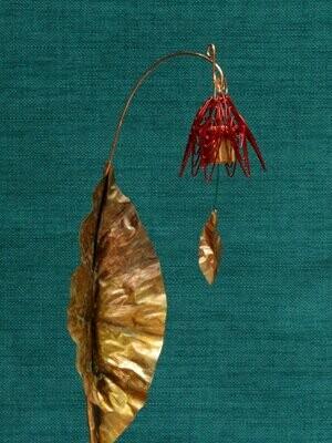 Bellflower Chime Garden Stake Red