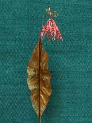 Coral Simple Flower Stake