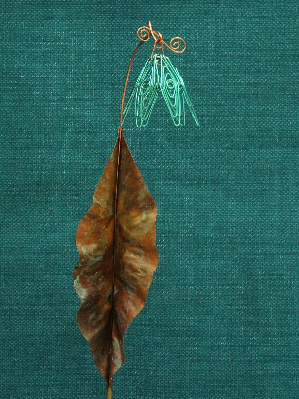 Teal Simple Flower Stake