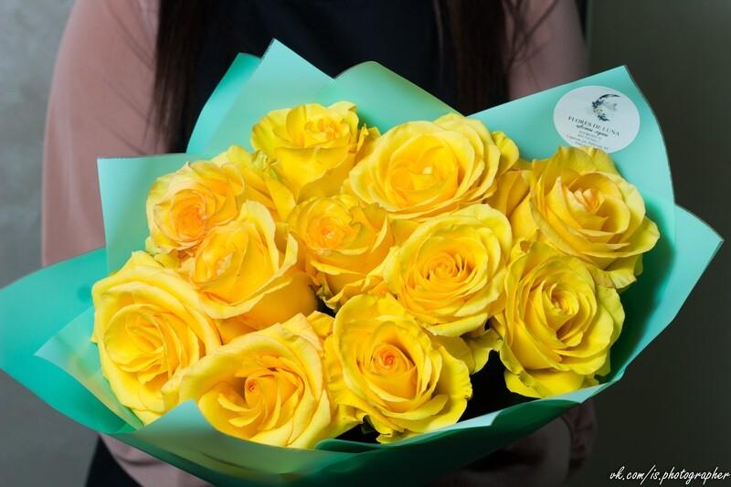 Букет жёлтых роз