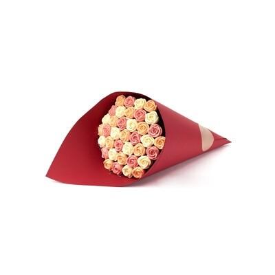 Букет красный 37 роз