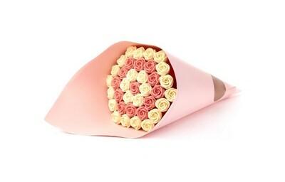 Букет розовый 37 роз