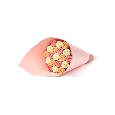 Букет розовый 19 роз