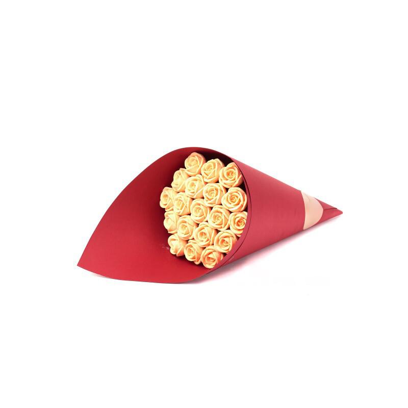 Букет красный 19 роз