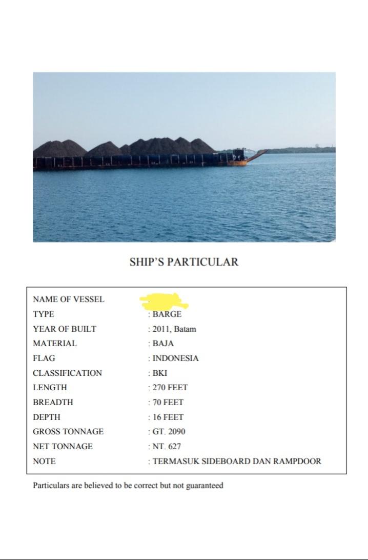 tuggboat dan barge 270 feet tahun 2011 000088888888888