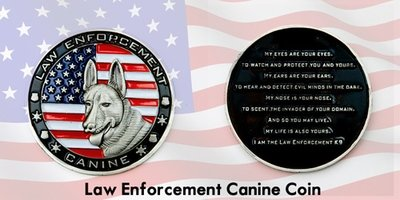 Law Enforcement Canine Coin
