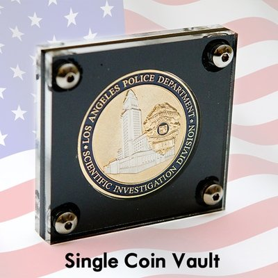 Single Opening Acrylic Coin Vault