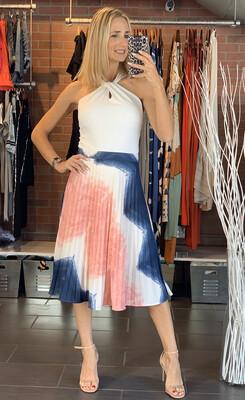 Plissada Tie Dye Skirt