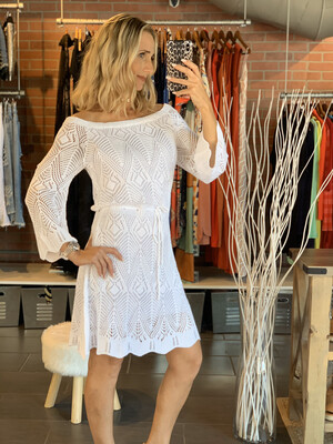 White Tricot Dress (one size)