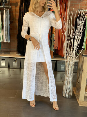 White Tricot Cover (bottom dress sold separately)