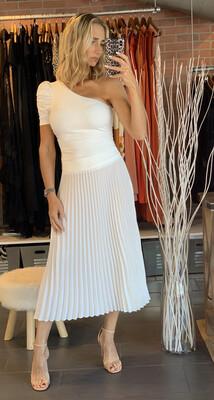 White Plissada Skirt