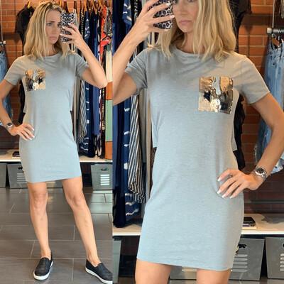 Gray Double Look Dress